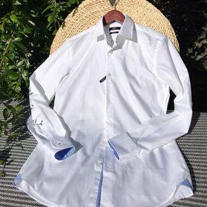 🔴Hugo Boss formal white Shirt Men's Sz 15🔴
